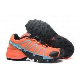 Salomon Speedcross 4 Trail Running In Orange Black Shoe For Women