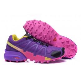 Salomon Speedcross 4 Trail Running In Purple Rose Red Shoe For Women
