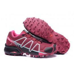 Salomon Speedcross 4 Trail Running In Wine Black Shoe For Women