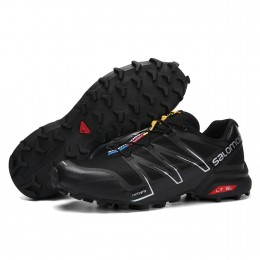 Salomon Speedcross Pro Contagrip In Black Silver Shoe For Men