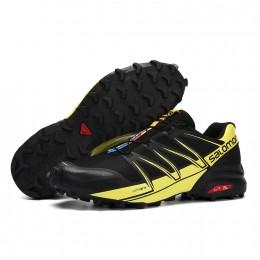 Salomon Speedcross Pro Contagrip In Black Yellow Shoe For Men