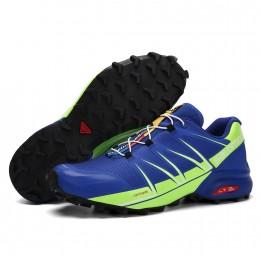 Salomon Speedcross Pro Contagrip In Blue Fluorescent Shoe For Men