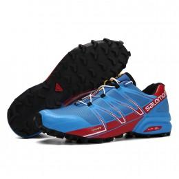 Salomon Speedcross Pro Contagrip In Blue Red Shoe For Men