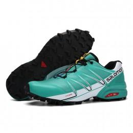 Salomon Speedcross Pro Contagrip In Lack Blue White Shoe For Men