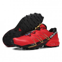 Salomon Speedcross Pro Contagrip In Red Black Shoe For Men